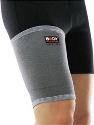 Body Sculpture Elastic Thigh Support (L, Grey)