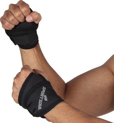 SportSoul Pack of 2 Thumb Wrap Wrist Support (Free Size, Black)