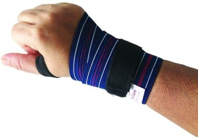 Wonder Care Hand Brace, Gym Wrap Wrist Support (Free Size, Blue)