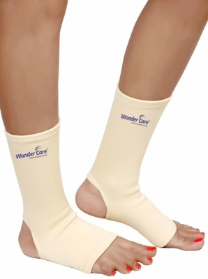 Wonder Care Anklet Brace(Pair)-Small Ankle Support (S, Beige)