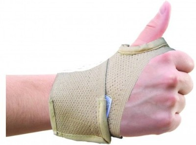 Wonder Care Hand Brace with Thumb Wrist Support (S, Beige)