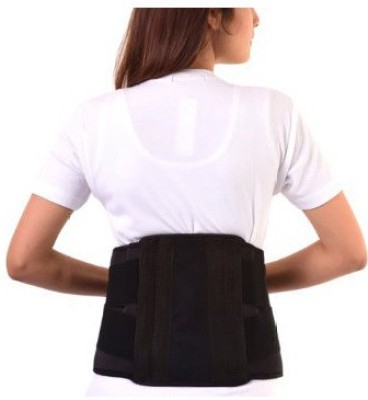 Turion Contoured Lumbar Sacral Belt-Neoprene Back & Abdomen Support (M, Black)