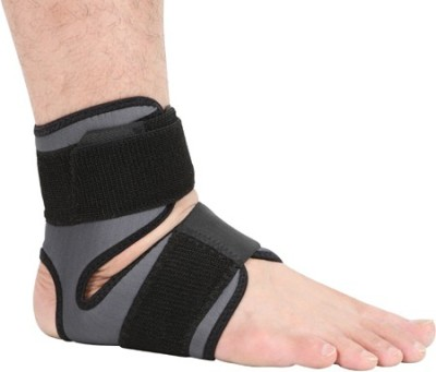 Stay-Fit Supports Bamboo Charcoal Ankle Support (Free Size, Black, Grey)