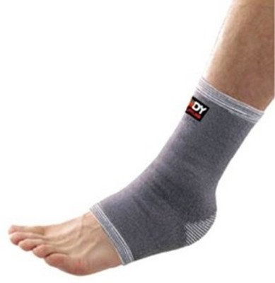 Body Sculpture Elastic Ankle Support (S, Grey)
