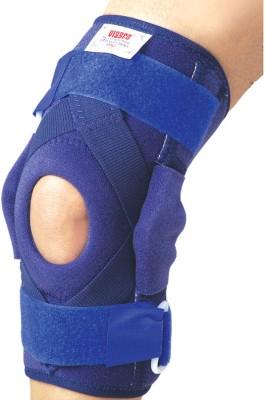 Vissco Hinged Brace with Patella Opening & Metal Hinges Knee Support (XXL, Blue)