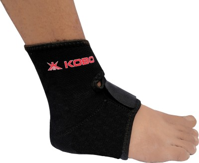 Kobo Ankle Support Ankle Support (Free Size, Black)