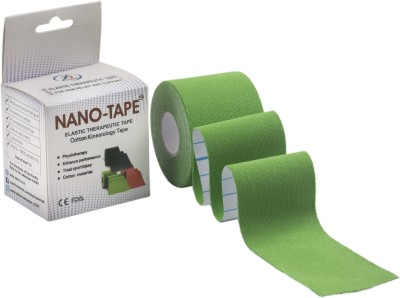 Nano-Tape Cotton Kinesiology Knee, Calf & Thigh Support (Free Size, Green)