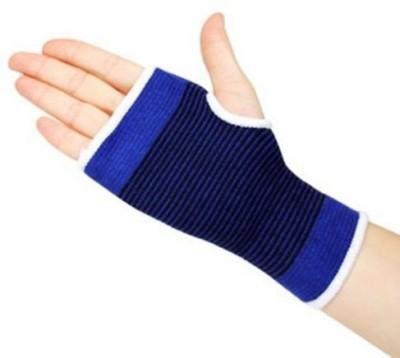 99DailyDeals R40 Generic Elastic Wrist Glove Hand Support Protector Brace Sleeve Support (Free Size, Blue)