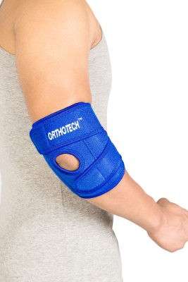 Orthotech Elbow Support with Stays Elbow Support (Free Size, Blue)