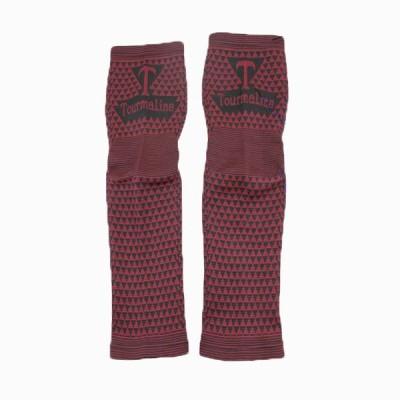 Vedic Deals Tourmaline magnetic fiber high elastic leg support Foot Support (Free Size, Red, Black)