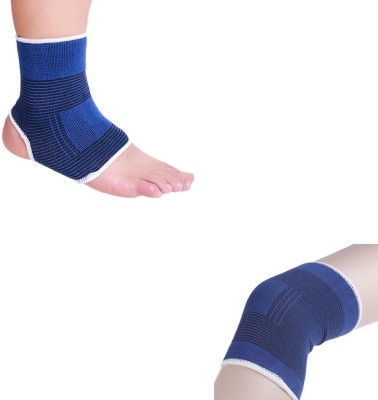 atyourdoor AKnees02 Ankle Support (Free Size, Blue)