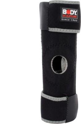 Body Sculpture Open Patella Knee Support (Free Size, Black)