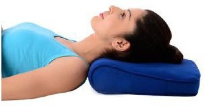 Turion CERVICAL PILLOW DELUX Neck Support (Free Size, Blue)