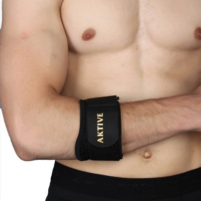 Aktive Support 524 Elbow Support (Free Size, Black)