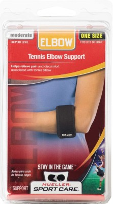 Mueller Neoprene Blend Tennis Elbow Support (Free Size, Black)