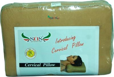 Sos Memo Cervical Pillow Regular Neck Support (Free Size, Beige)