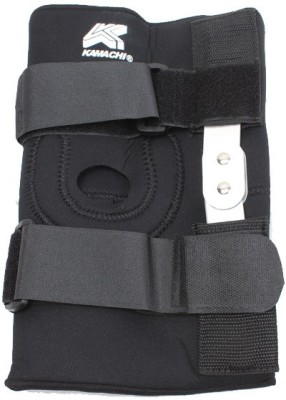 Kamachi With Metal Hinges Knee, Calf & Thigh Support (XL, Black)