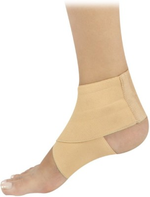 D4 Rehabilitation Elastic Ankle Binder Ankle Support (M, Blue, Brown)