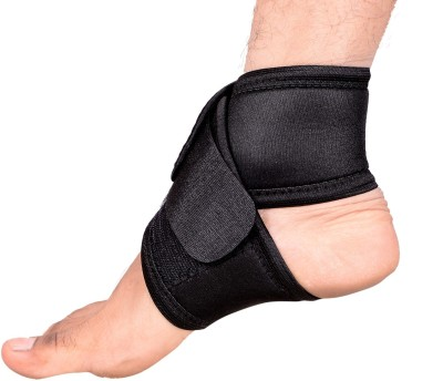 RAP Ankle Binder With Extra Elastic Support Ankle Support (Free Size, Black)