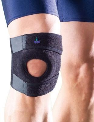 Oppo 1125 Coolprene Knee Support (Free Size, Black)