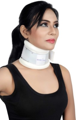Wonder Care Adjustable Height Hard Cervical Collar- Xtra Large Neck Support (XL, White)