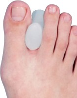 Tynor Orthopaedic Toe Seprator Silicon Hallux Straightner Finger Support (L, White)