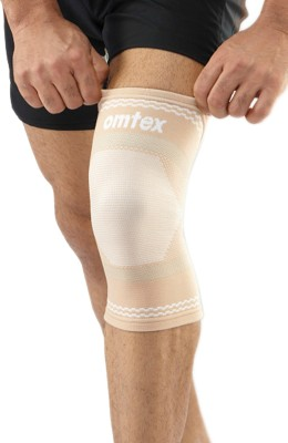 Omtex Superior Elastic Knee Support (M, Beige)