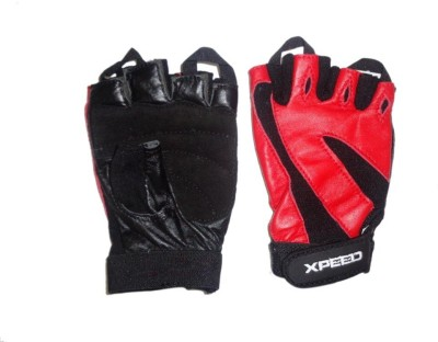 Xpeed Weight Lifting Glove Hand Support (Free Size, Black)