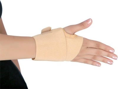 Modern Medical Aids Elastic Wrist Brace Wrist Support (Free Size, Beige)