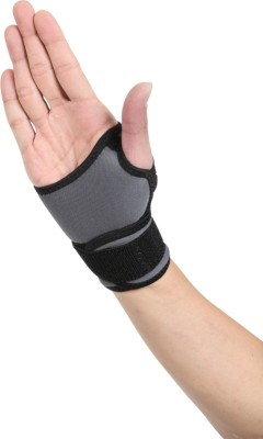 Stay-Fit Supports Nano Bamboo Charcoal Wrist Support (L, Black, Grey)
