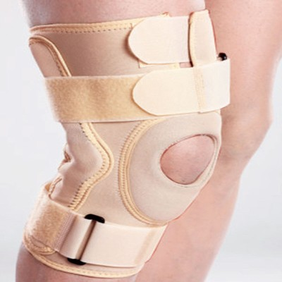 Tynor Hinged Brace Neoprene Cap Knee Support (M, Beige)