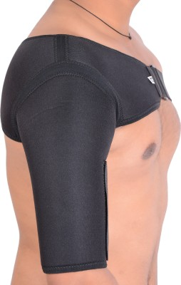 RAP SHOULDER SUPPORT (RIGHT HAND) & OPEN PATELLA (SIZE- L) PACK OF -2 NA (Free Size, Black)