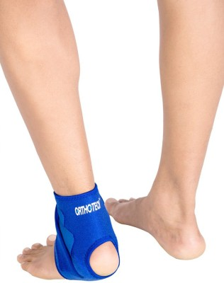 Orthotech Ankle Support With Straps Ankle Support (Free Size, Blue)