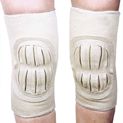 SJ Leg Joint Guard Knee Support (Free Size, White)