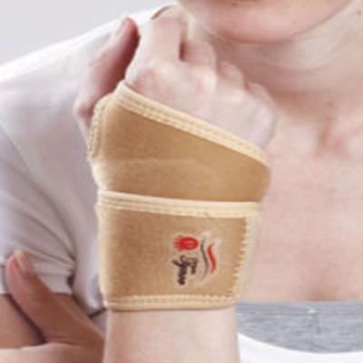 Tynor Wrist Brace with Thumb Neoprene Universal Wrist Support (Free Size, Beige)
