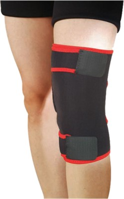 Nivia Adjustable Knee Support (Free Size, Black)