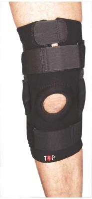 Mediexchange Knee Brace Open Patella Neoprene with Hinges Knee Support (S, Black)