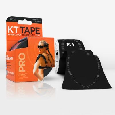 KT Tape Pro Pre-Cut 20 Strip Synthetic Jet Black Wrist Support (Free Size, Black)