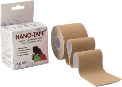 Nano-Tape Cotton Kinesiology Knee, Calf & Thigh Support (Free Size, Yellow)