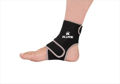 Hawk AW7016 Ankle Support (Free Size, Black)