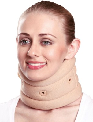 Satnam Cervical Collar with Support Neck Support (L, Brown)