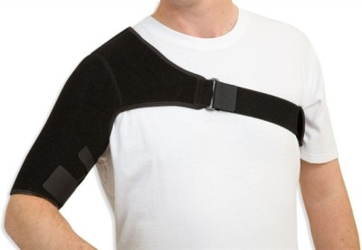 Turion Compression Left Shoulder Support (Free Size, Black)