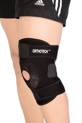 Orthotech Open Patella Knee Support Knee Support (M, Black)