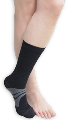 BodyVine Arch Socks Foot Support (L, Black)