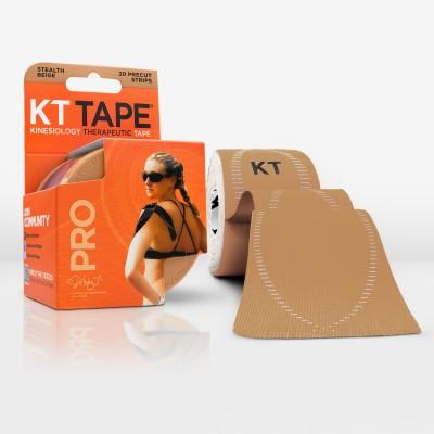 KT Tape Pro Pre-Cut 20 Strip Synthetic Stealth Beige Back & Abdomen Support (Free Size, Beige)