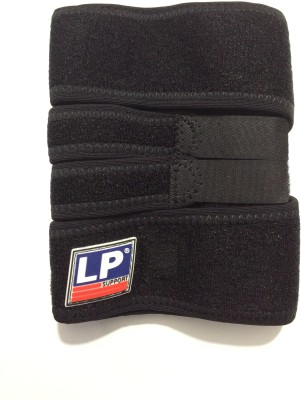LP shin support Knee Support (Free Size, Black)