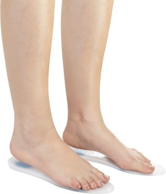 Flamingo Silicon Insoles Foot Support (M, White)