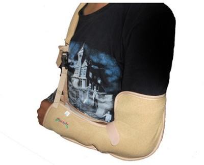 SOS Arm Sling Pouch Hand Support (S, Beige)
