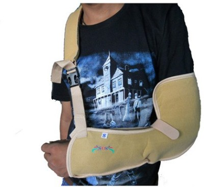 SOS SOS Arm Sling Pouch Hand Support (L, Beige)