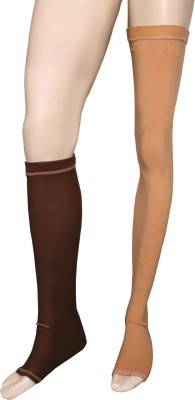 Applikon Compression Rk5858 Stockings Crus Support (XXL, Brown)